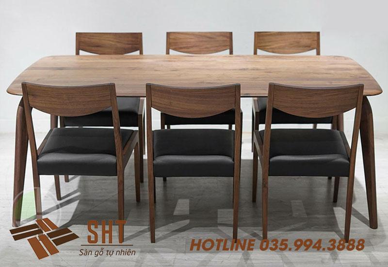 bàn ghế ăn bằng gỗ óc chó