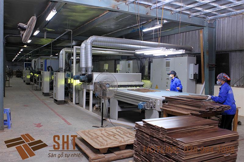 dây chuyền sản xuất gỗ tự nhiên tại sht