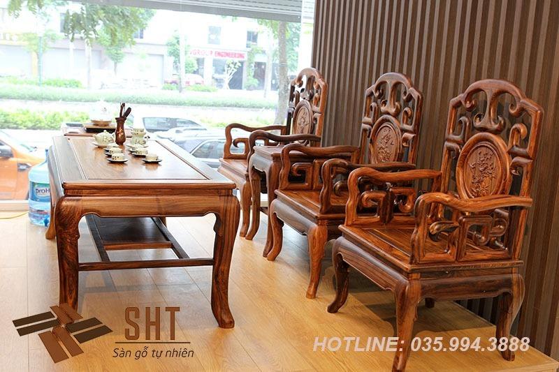 bàn ghế móc bằng gỗ cẩm