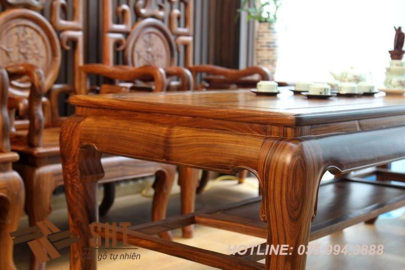 bộ bàn ghế móc gỗ cẩm