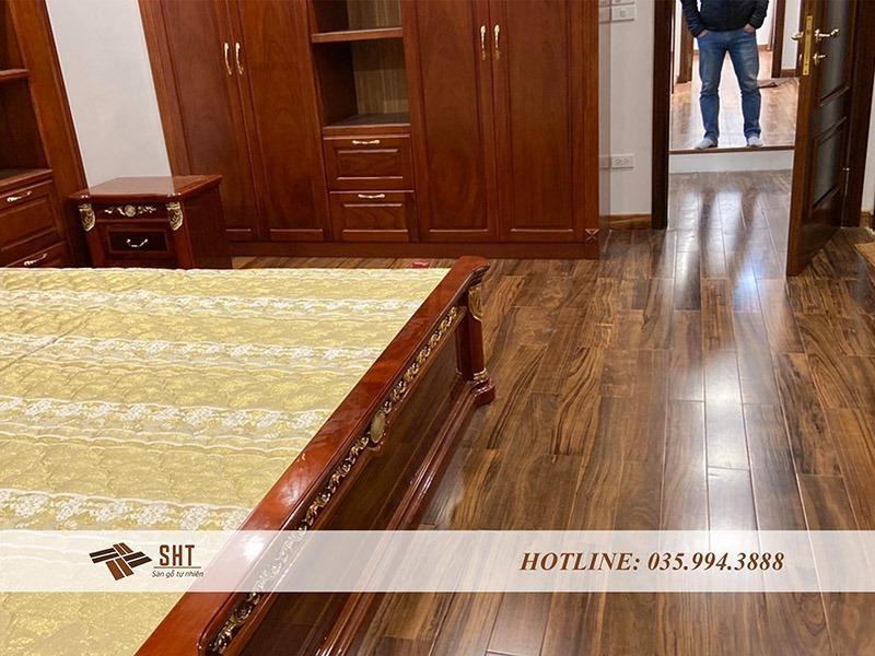 sàn gỗ nhà mun cho phòng ngủ