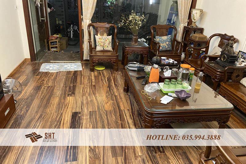 sàn gỗ mun tự nhiên