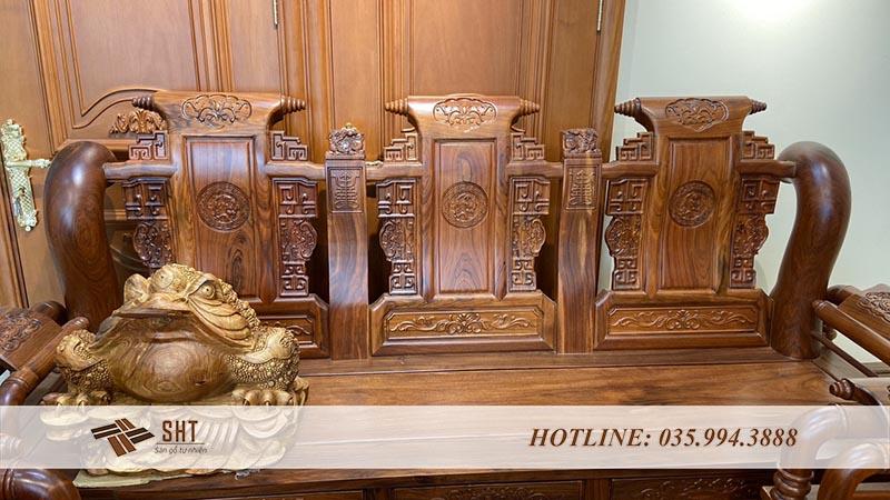 Hình ảnh: Ghế giả cổ chất liệu gỗ Mun
