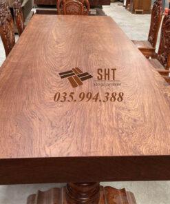 bàn gỗ nguyên khối - cẩm bubinga