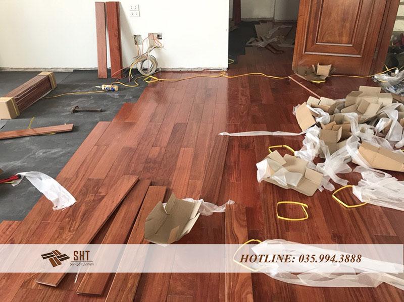 lắp đặt sàn gỗ cẩm trắc nam phi