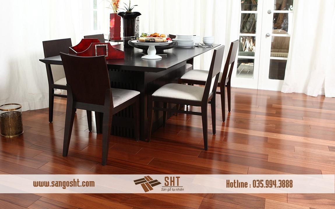 Sàn gỗ hương đỏ