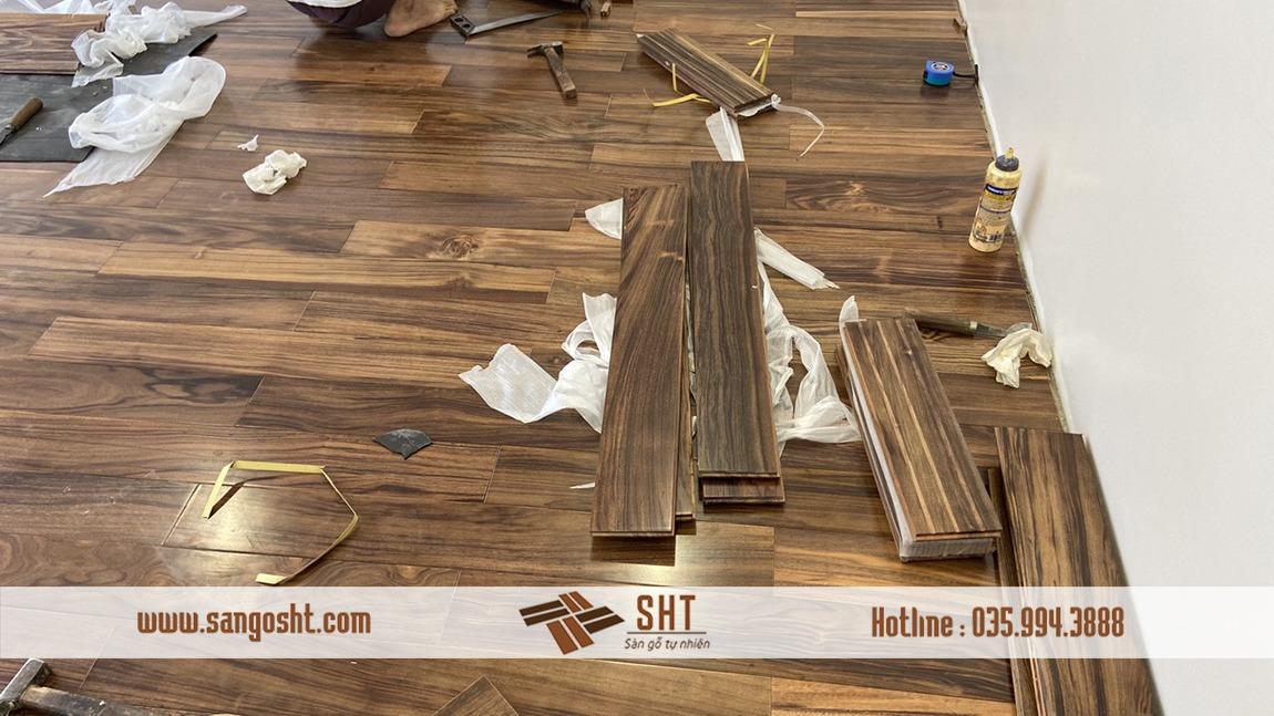 Thi công Sàn gỗ mun Nam Mỹ
