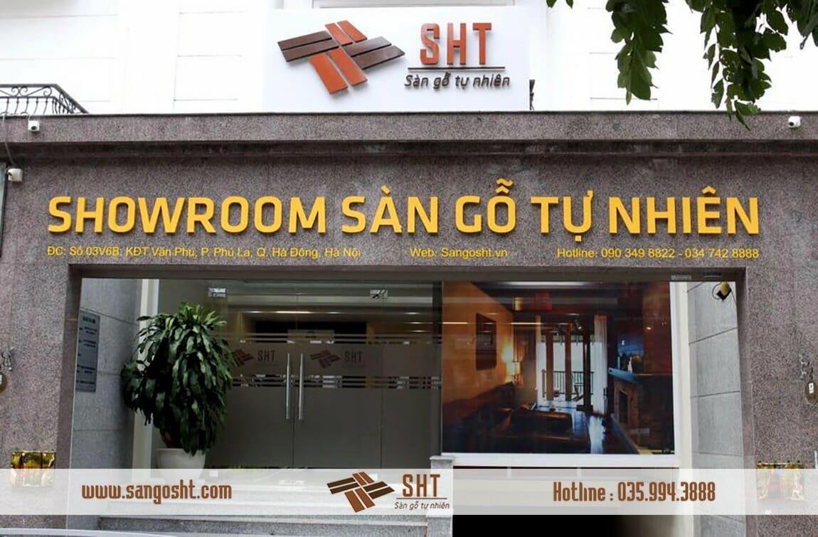 Showroom sàn gỗ tự nhiên SHT