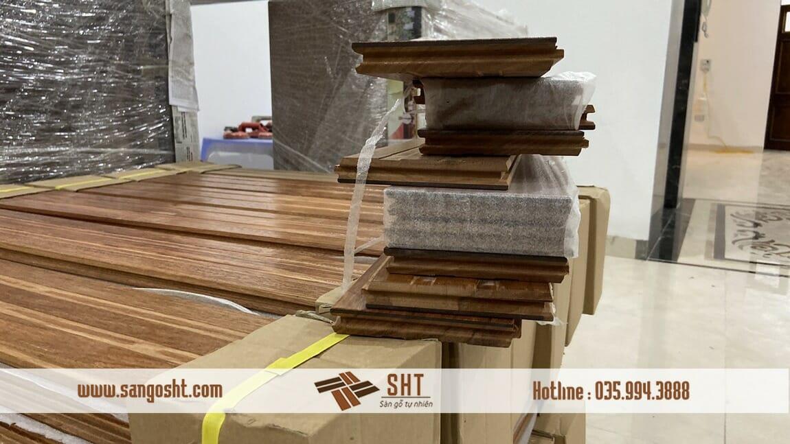 Ván Sàn gỗ gõ đỏ cho công trình