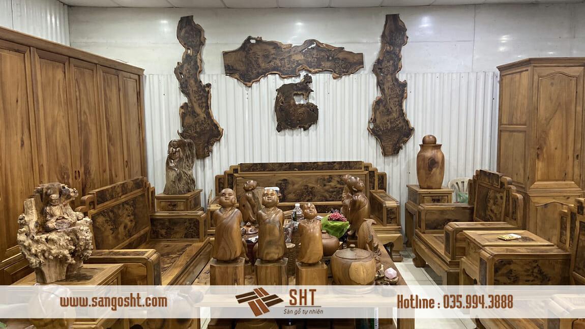Nội thất gỗ bách xanh Việt