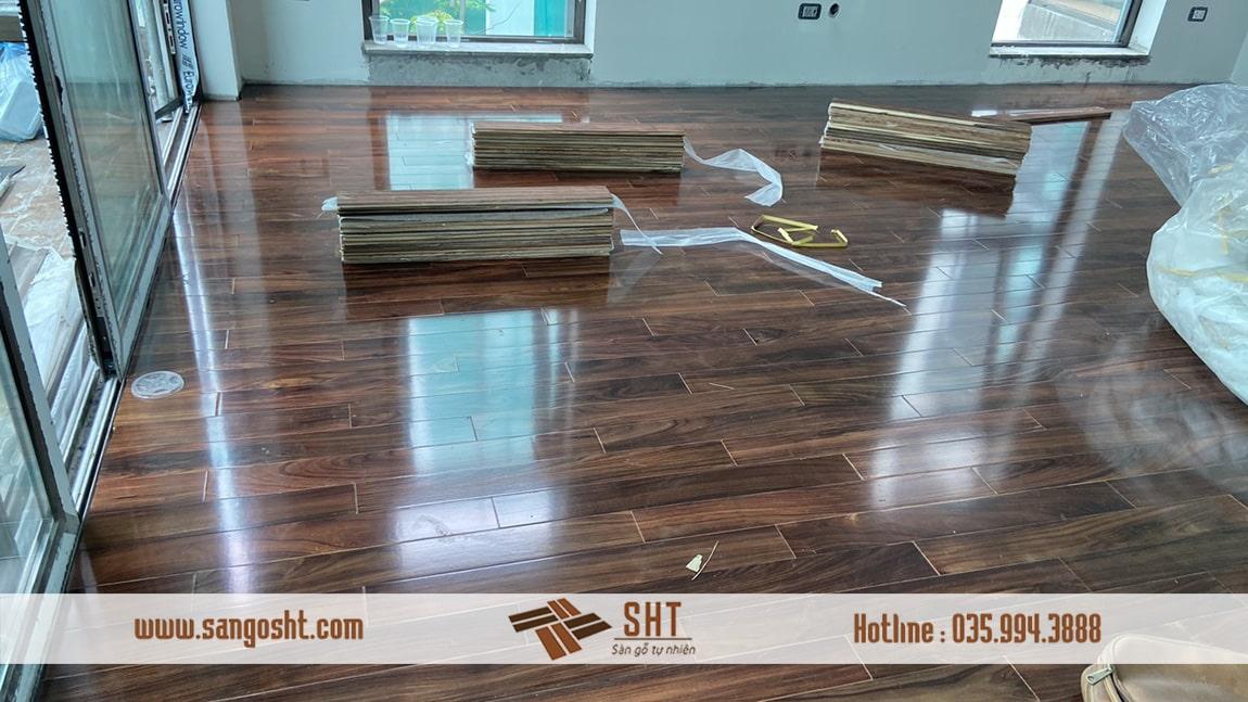 HÌnh ảnh sàn gỗ cẩm lai bán hoàn thiện