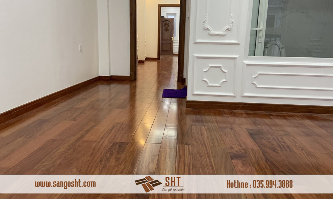 HÌnh ảnh sàn gỗ cẩm sau khi hoàn thiện