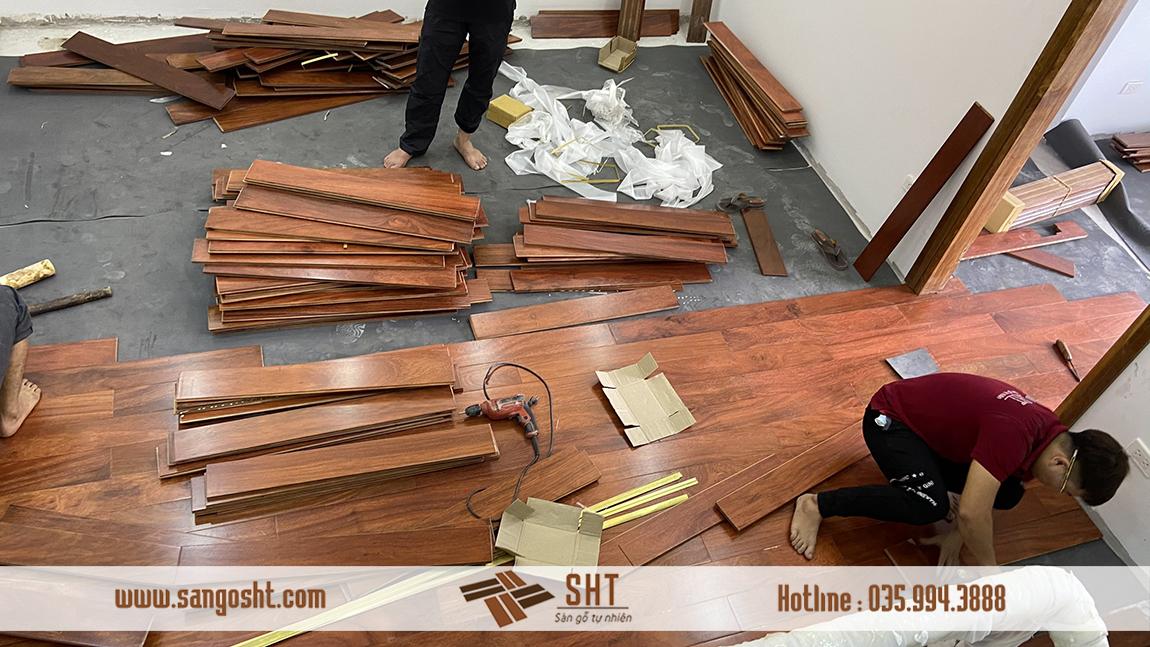 Thi công lắp đặt sàn gỗ lim