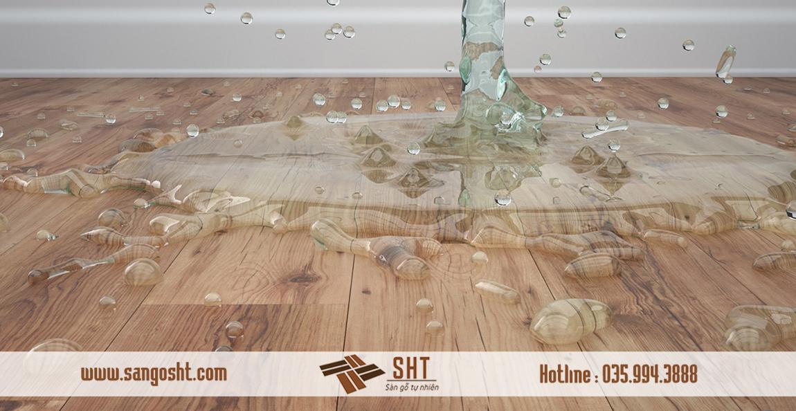 Xử lý sàn gỗ bị ngập nước