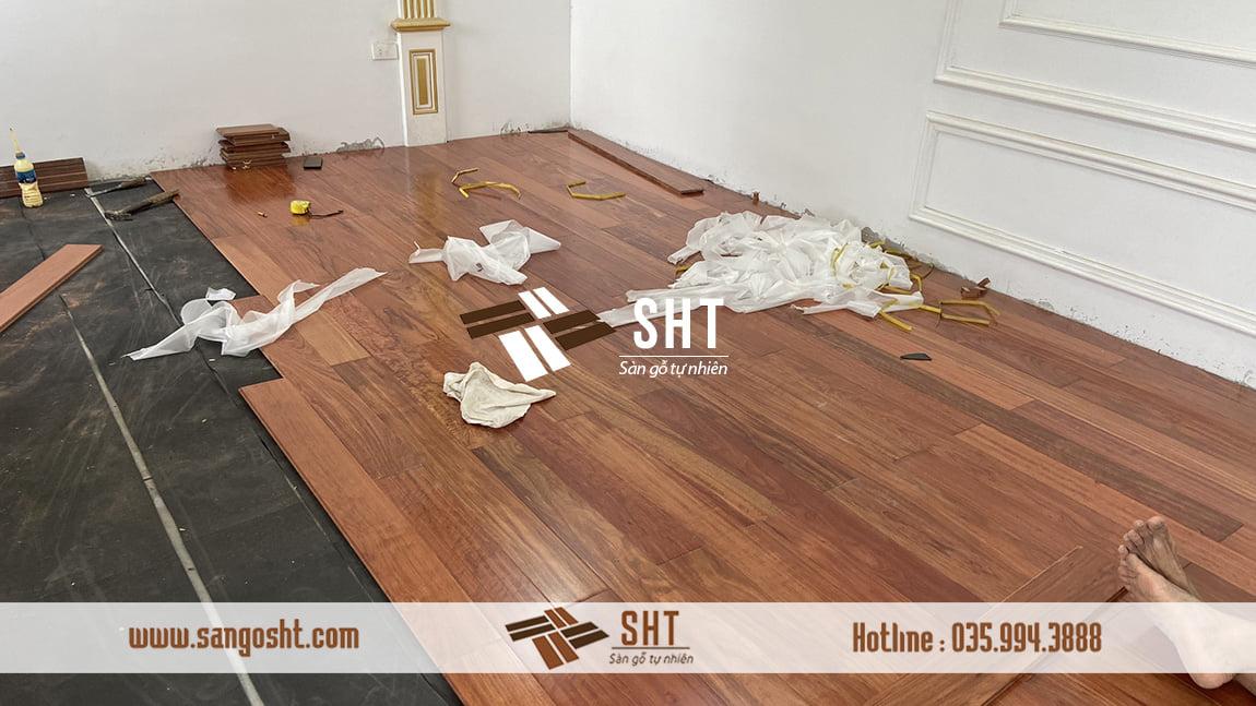 Thi công sàn gỗ Cẩm Nam Phi
